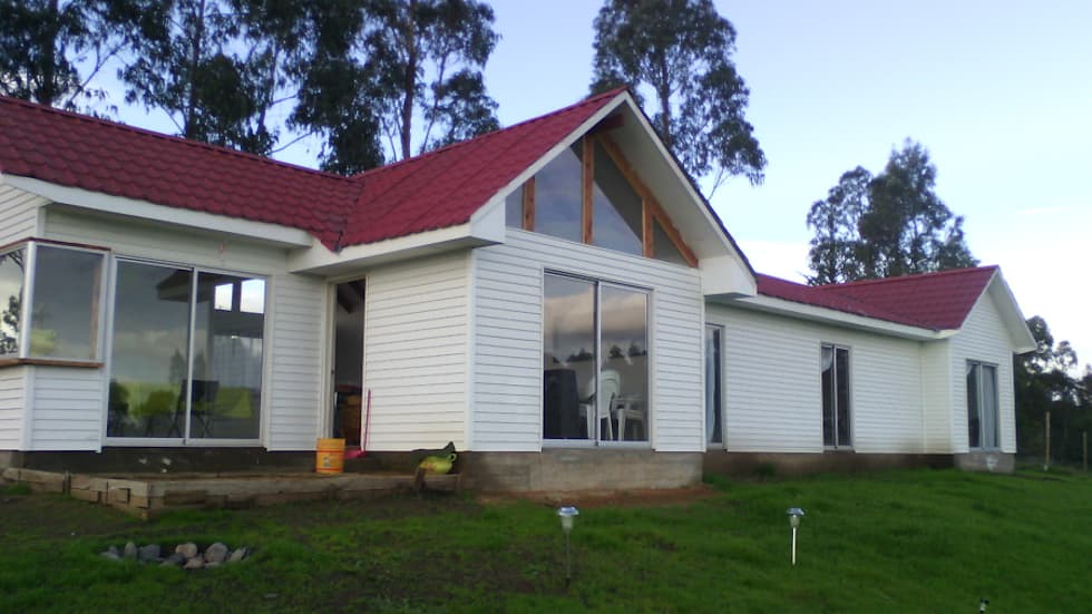 Casas playa campo casas de madera de estilo por - Construcciones de casas de madera ...