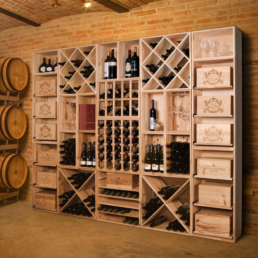 Weinregal aus weinkisten  Weinregal vincasa zur lagerung von weinkisten, einzelflaschen- und ...