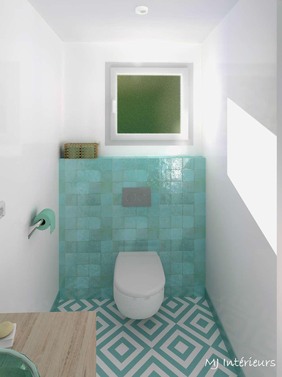 VERSION 1 - La salle d'eau de la master bedroom: Chambre de style de style Scandinave par MJ Intérieurs