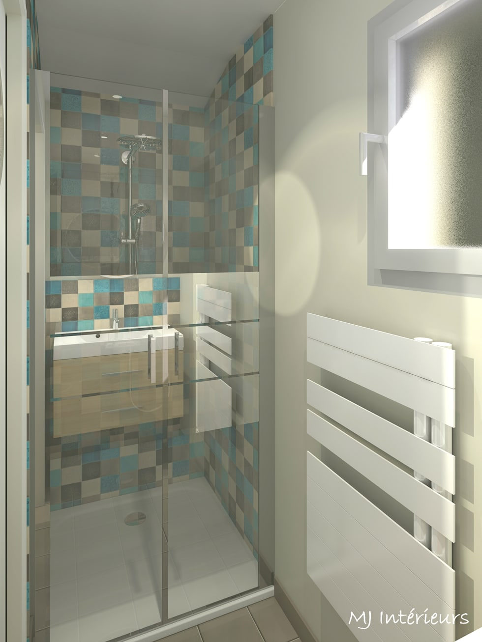 Version 2 – la mini salle d\'eau de la chambre d\'amis: salle de bains ...