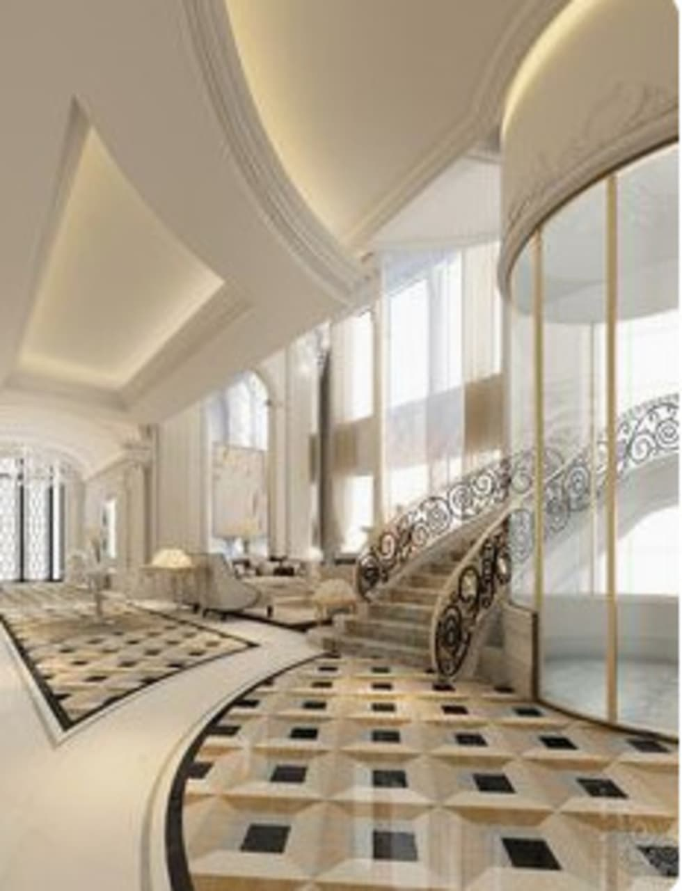 For the Hotel:  Corridor & hallway by Nozipho Construction