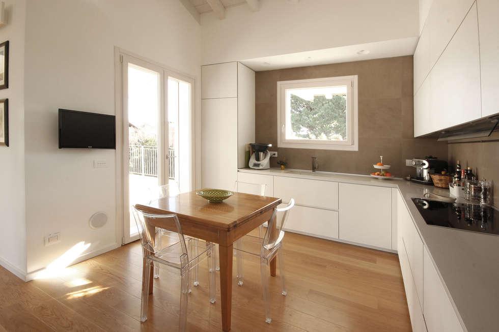 Idee arredamento casa interior design homify - Cucina tutta bianca ...