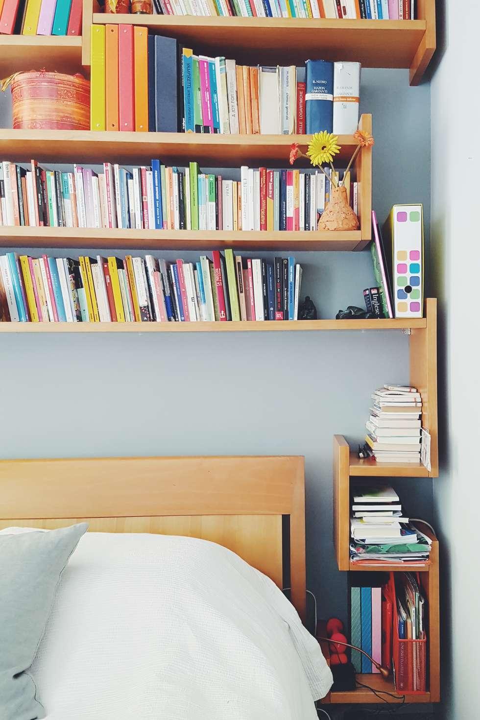 Dettaglio Della Libreria Che Arriva Allu0027altezza Giusta Per Essere Anche Un  Comodino: Camera