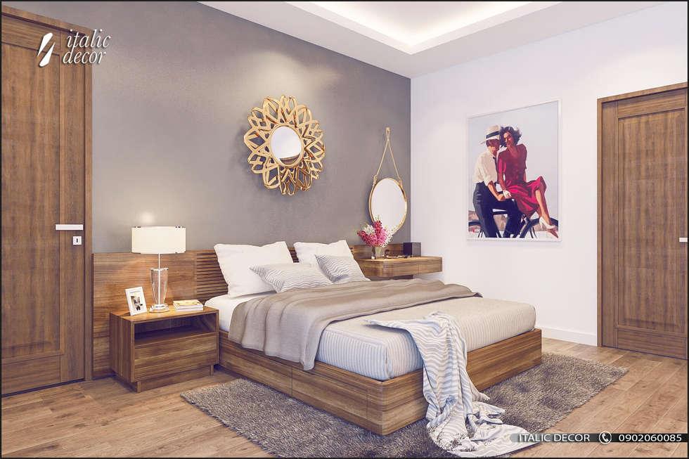 CĂN HỘ TRÀNG AN COMPLEX 02:  Phòng ngủ by ITALIC DECOR