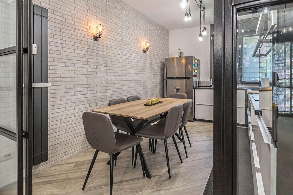 Ristrutturazione appartamento 85 mq roma casilina cucina for Arredamento stile industriale roma