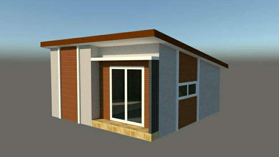 งานต่อเติม:  บ้านและที่อยู่อาศัย by P Knockdown Style Modern