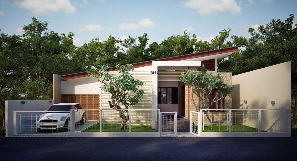 Single family home by Griya Cipta Studio