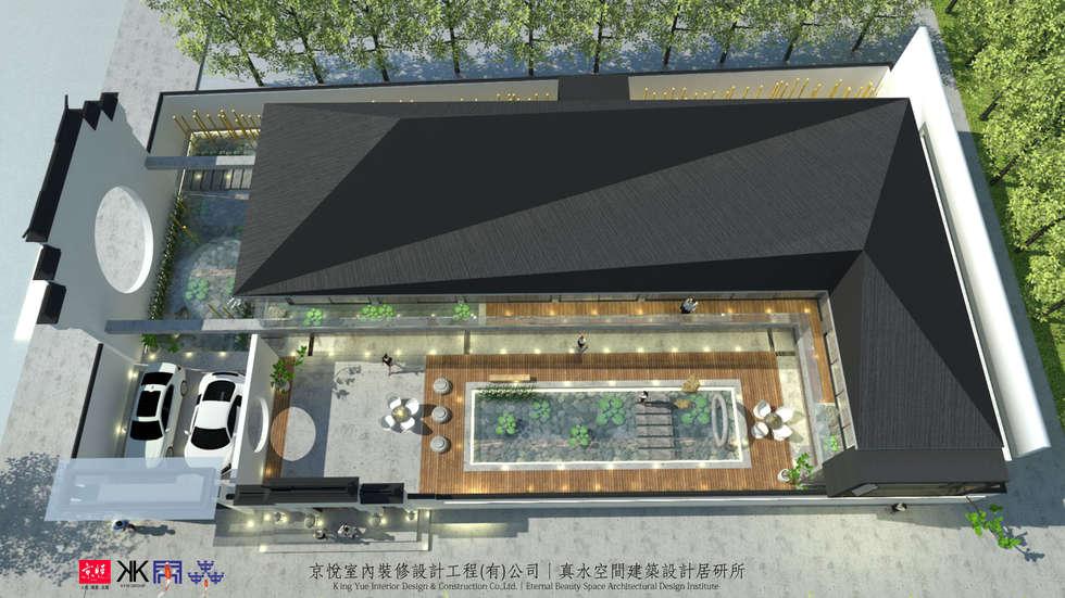 京悅蘇州:  斜屋頂 by 京悅室內裝修設計工程(有)公司|真水空間建築設計居研所