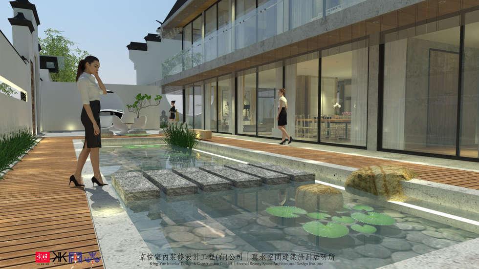 京悅蘇州:  庭院 by 京悅室內裝修設計工程(有)公司|真水空間建築設計居研所