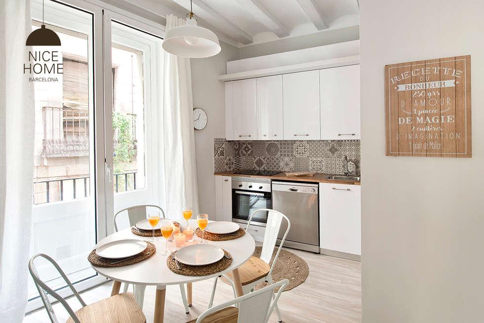 Cocinas de estilo mediterráneo por Nice home barcelona