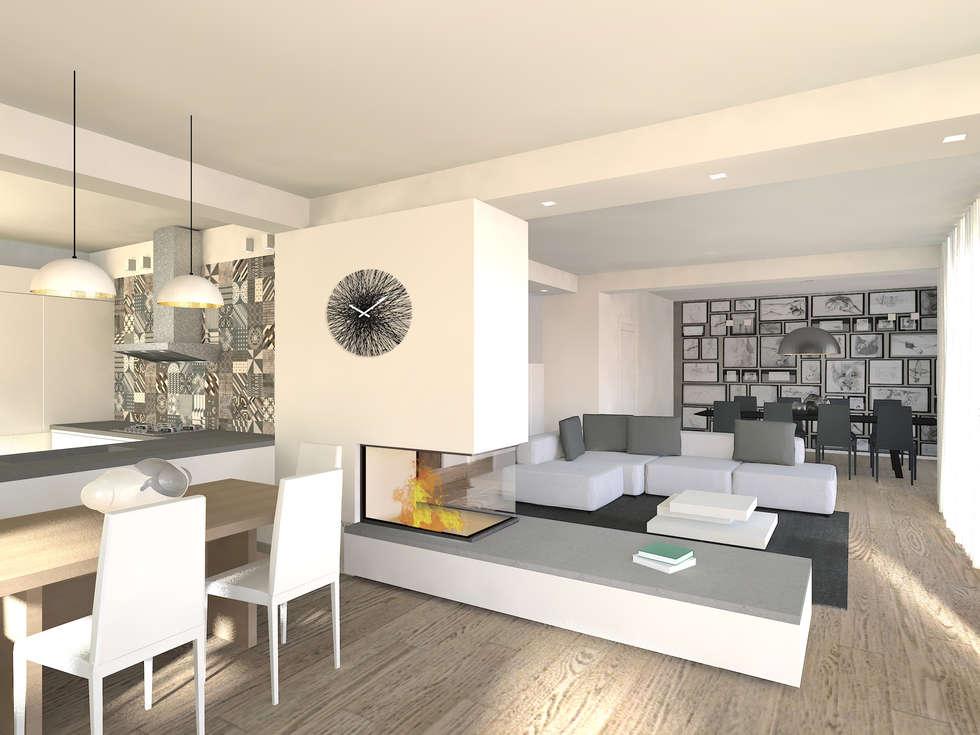 Idee arredamento casa interior design homify for Cucina con camino