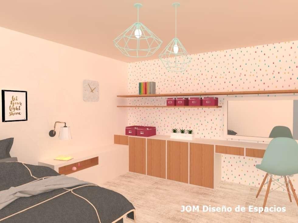 Dormitorio juvenil: Dormitorios de estilo escandinavo por JOM Diseño de Espacios