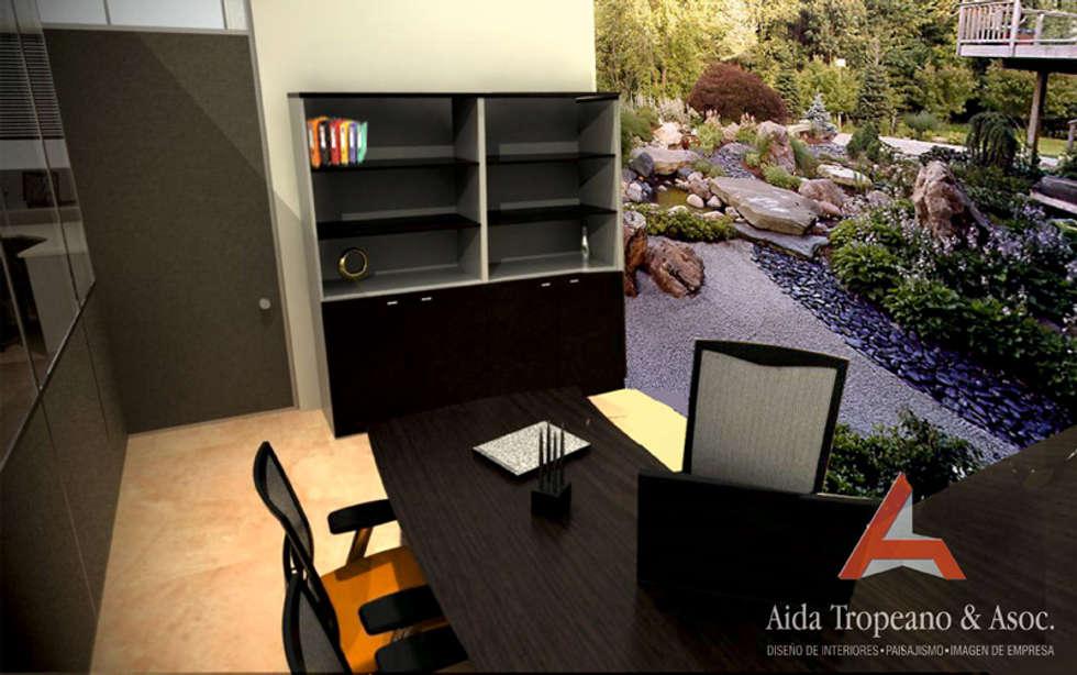 Oficina-Empresa: Estudios y oficinas de estilo moderno por Aida Tropeano & Asoc.