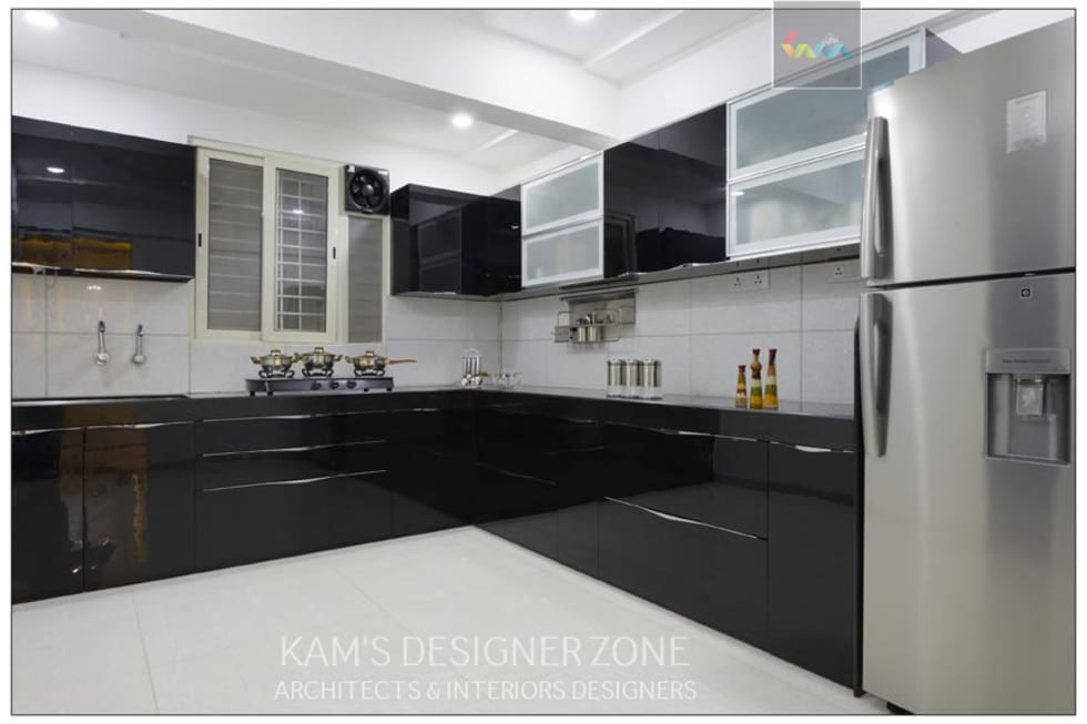 Delicieux Modular Kitchen Interior Design: Built In Kitchens By KAMu0027S DESIGNER ZONE