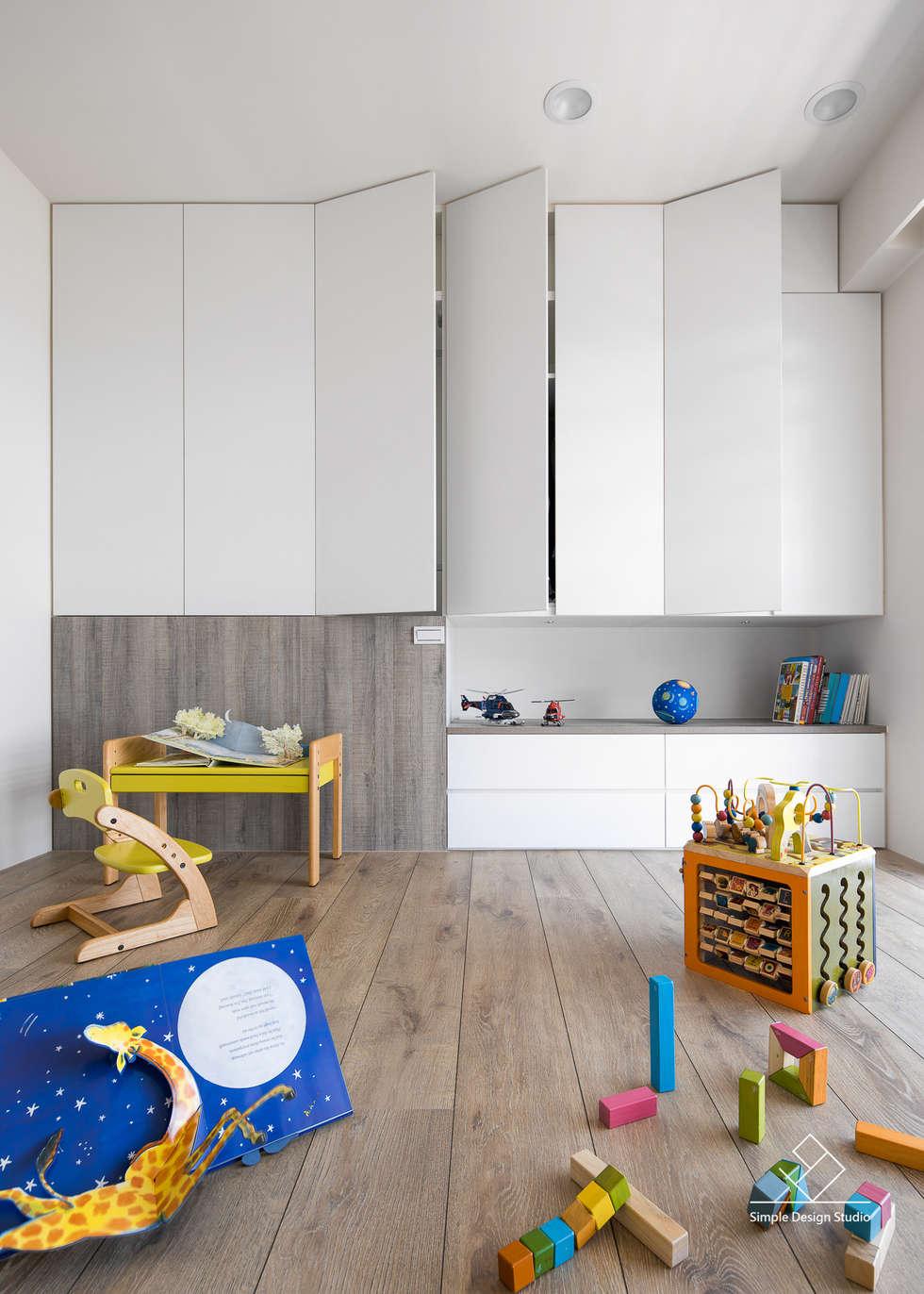兒童房:  臥室 by 極簡室內設計