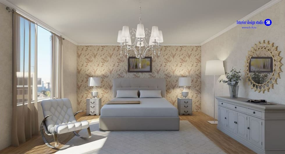 Bedroom: classic Bedroom by 'Design studio S-8'