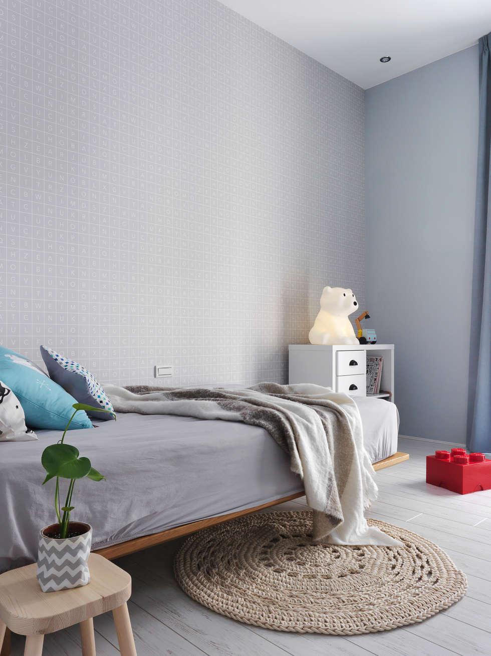 木星上的北歐幻想:  嬰兒/兒童房 by 賀澤室內設計 HOZO_interior_design