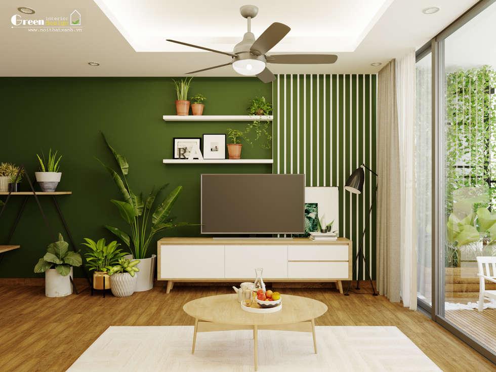 """SEASON AVENUE, ĐẠI LỘ 4 MÙA - """"MÙA HẠ MIỀN NHIỆT ĐỚI"""":  Phòng ăn by Green Interior"""
