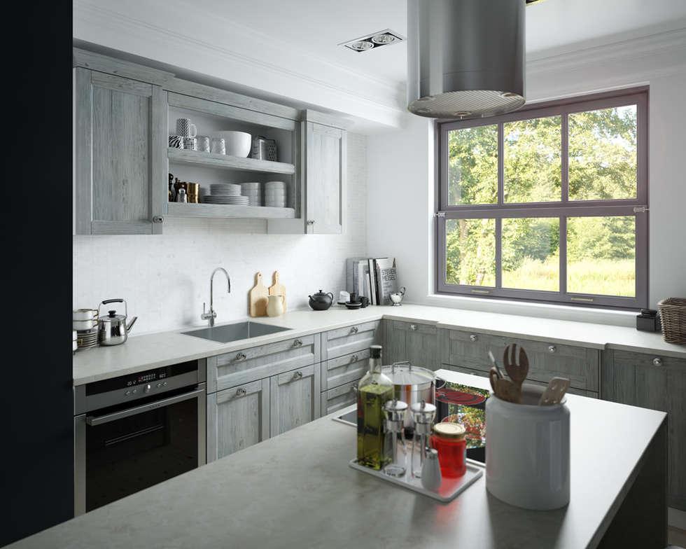 kuche landhausstil grau, wohnideen, interior design, einrichtungsideen & bilder | homify, Design ideen