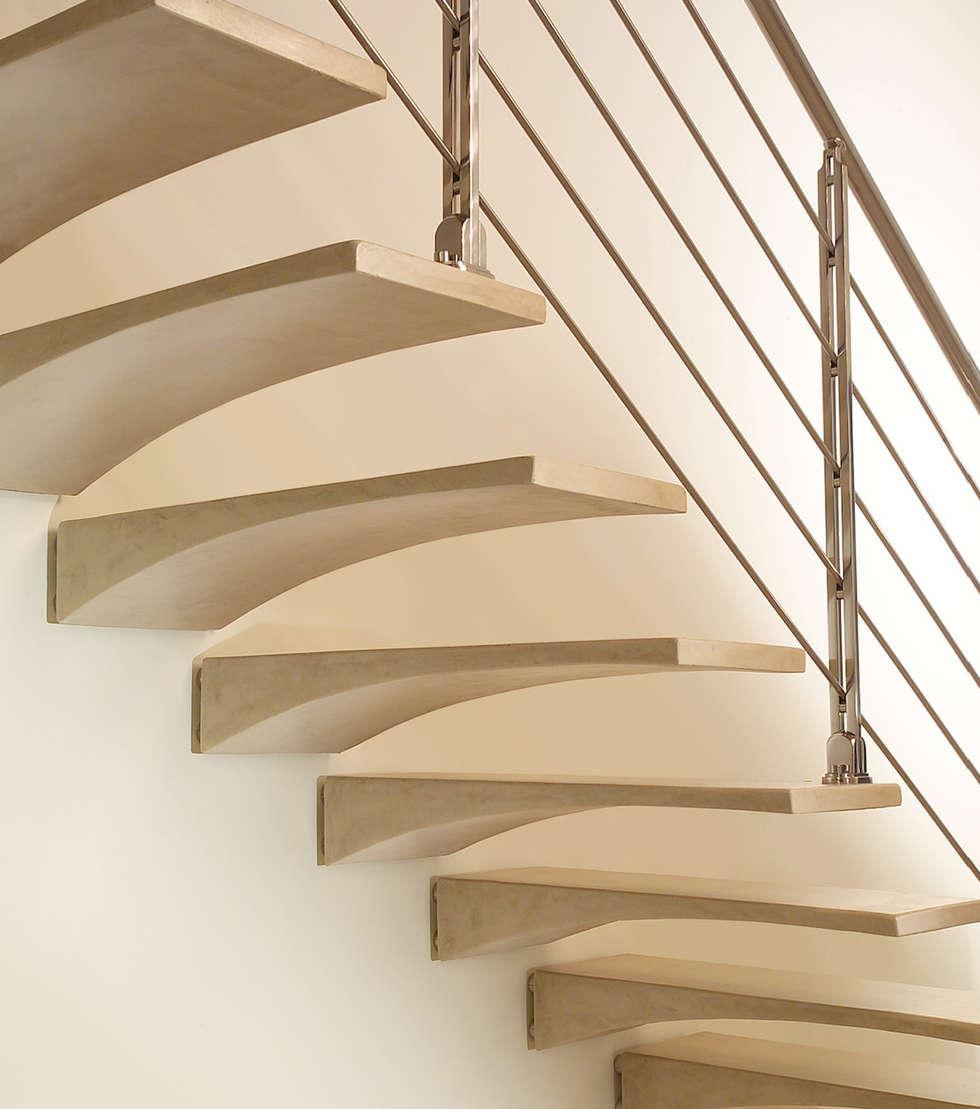 escaleras voladas de estilo de rf serveis agudo sl - Escaleras Voladas