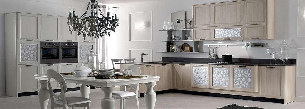 cucina contemporanea mod.Fly: Negozi & Locali commerciali in stile  di Linea arredamenti di Mandis Alberto e Co
