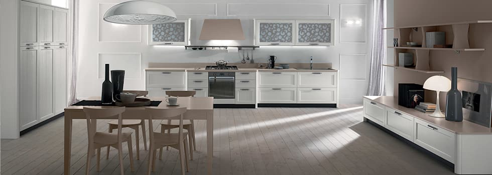 Cucina contempornea  Mod.Fly: Negozi & Locali commerciali in stile  di Linea arredamenti di Mandis Alberto e Co