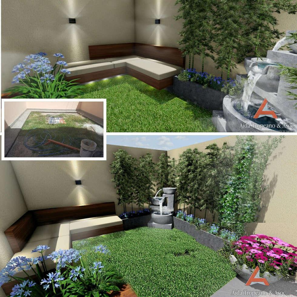 Jardín Pequeño, jardines grandes, flores, proyecto, : Jardines de estilo clásico por Aida Tropeano & Asoc.