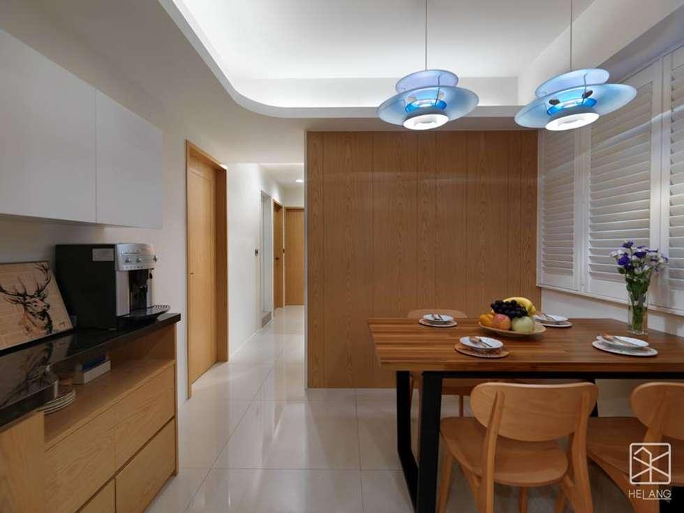 牆面造型:  餐廳 by 禾廊室內設計