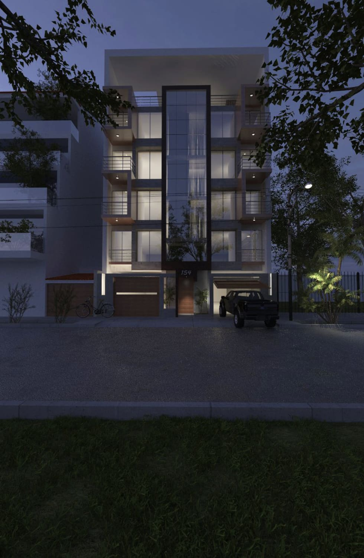 DISEÑO Y CONSTRUCCIÓN VIVIENDA MULTIFAMILIAR - SANTA VICTORIA - CHICLAYO: Edificios de oficinas de estilo  por CN y Arquitectos