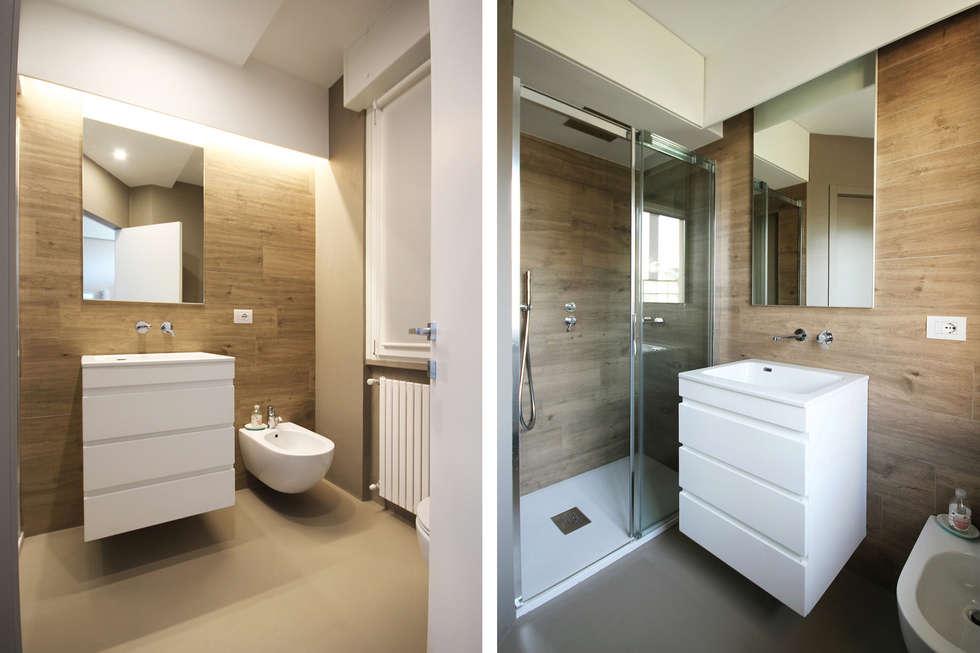 Arredo bagno scandinavo una stanza da bagno vintage in stile anni