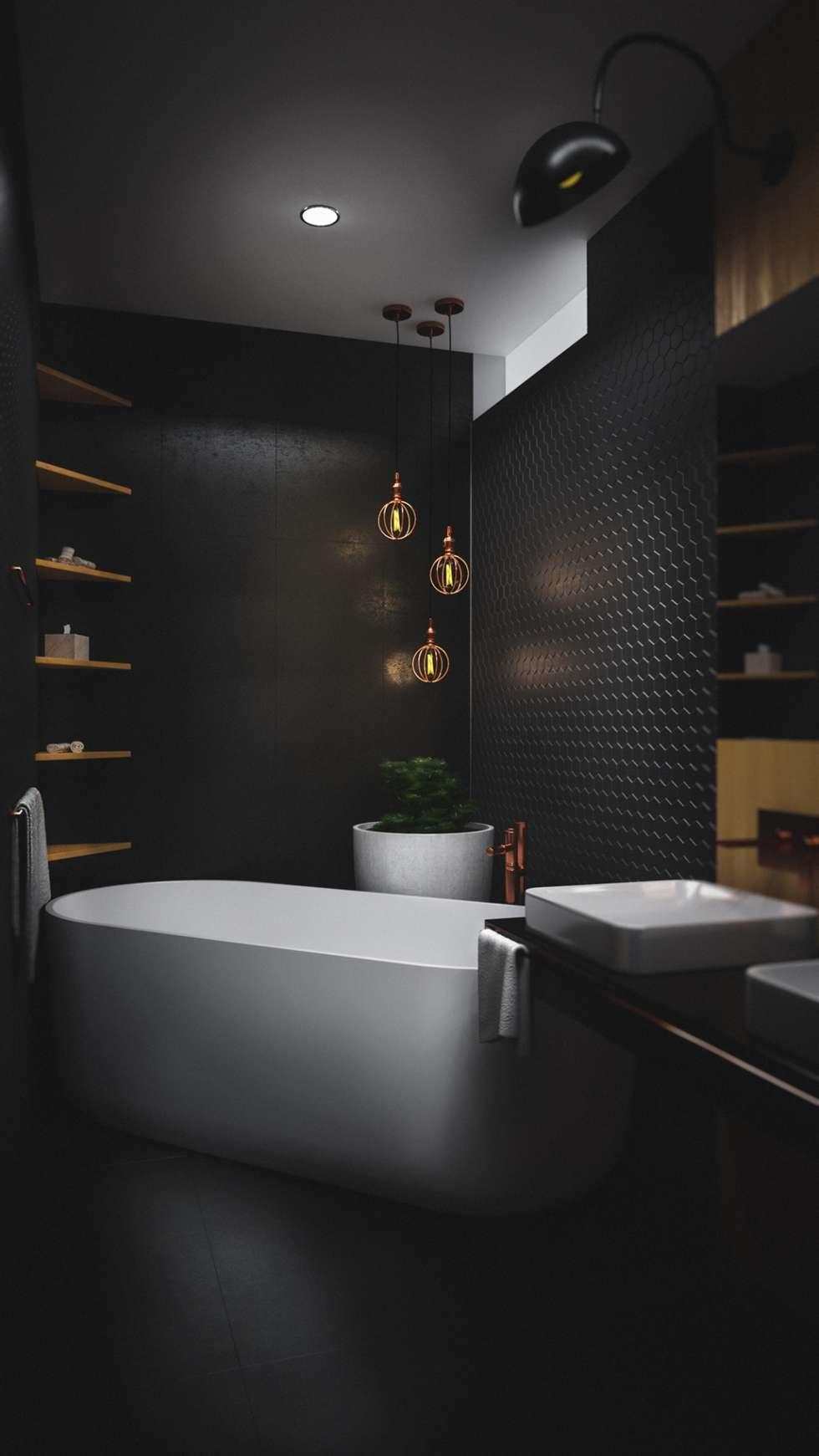 BAÑO CASA VEGA : Baños de estilo moderno por Adrede Diseño