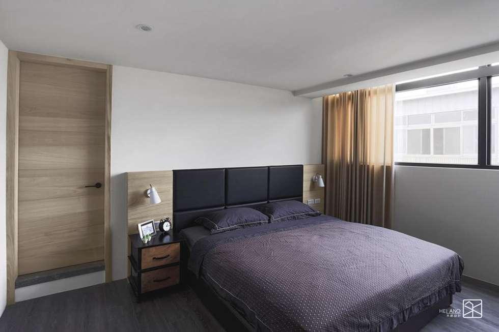 床頭繃布:  臥室 by 禾廊室內設計