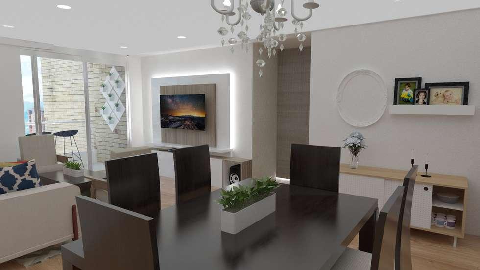 Sala : Salas de estilo clásico por Naromi  Design