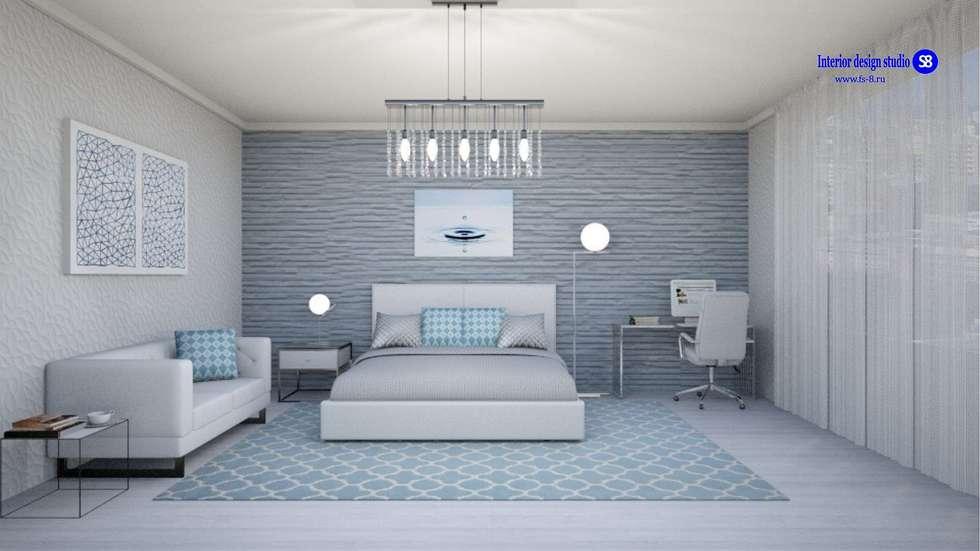 Bedroom: modern Bedroom by 'Design studio S-8'