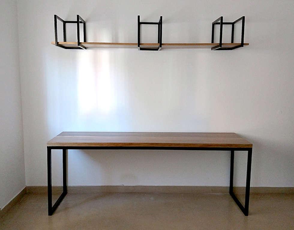 escritorios minimalistas modernos y simples para tu hogar estudio de estilo por tienda quadrat - Escritorios Modernos