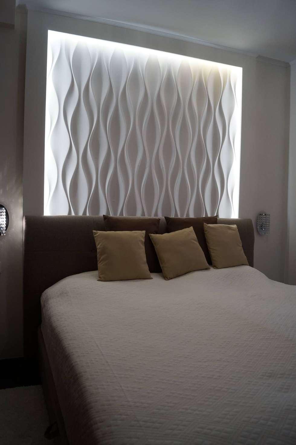 3d wandpaneel design nr.24 flow: klassische schlafzimmer von loft ...