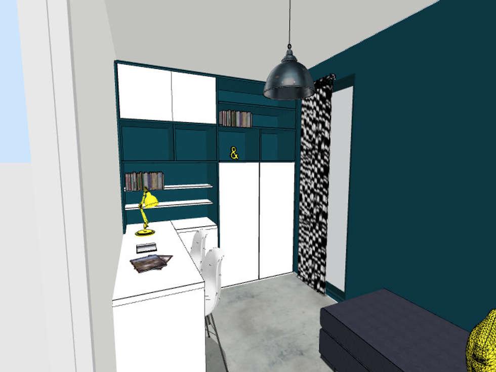 Proposition du projet en 3D: Bureau de style de style Moderne par Scènes d'Intérieur