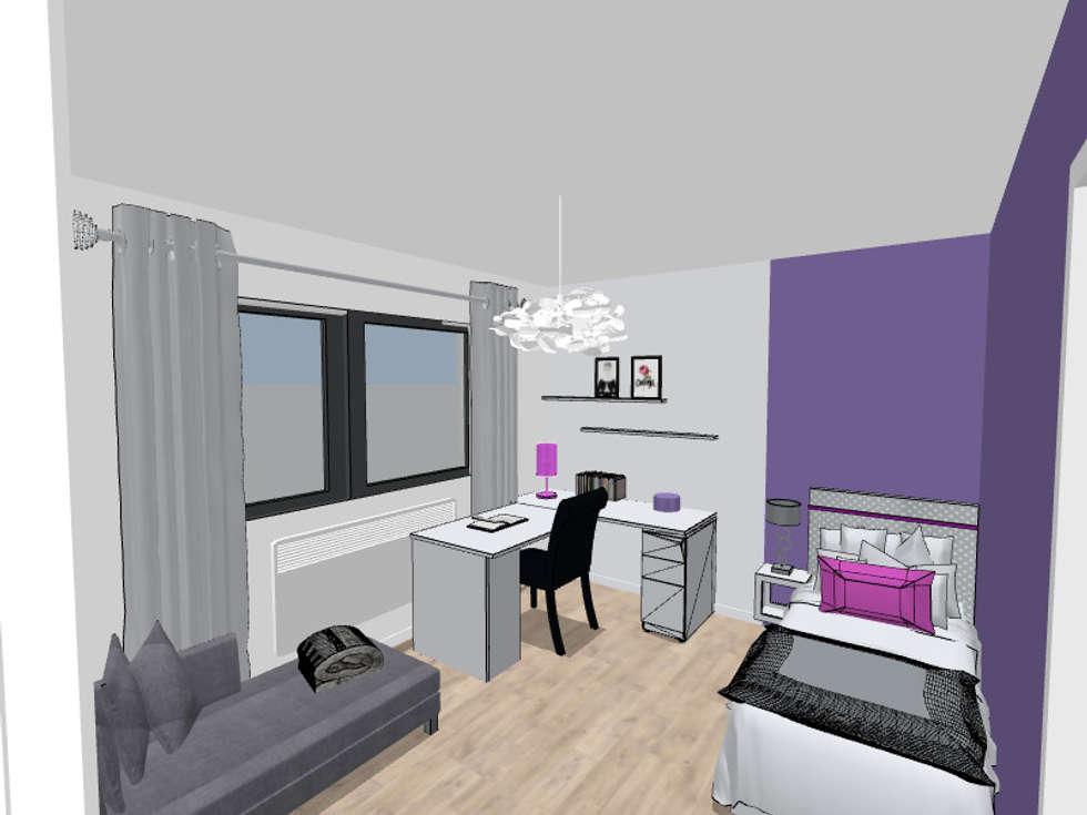 Proposition du projet en 3D: Chambre d'enfant de style de style Moderne par Scènes d'Intérieur