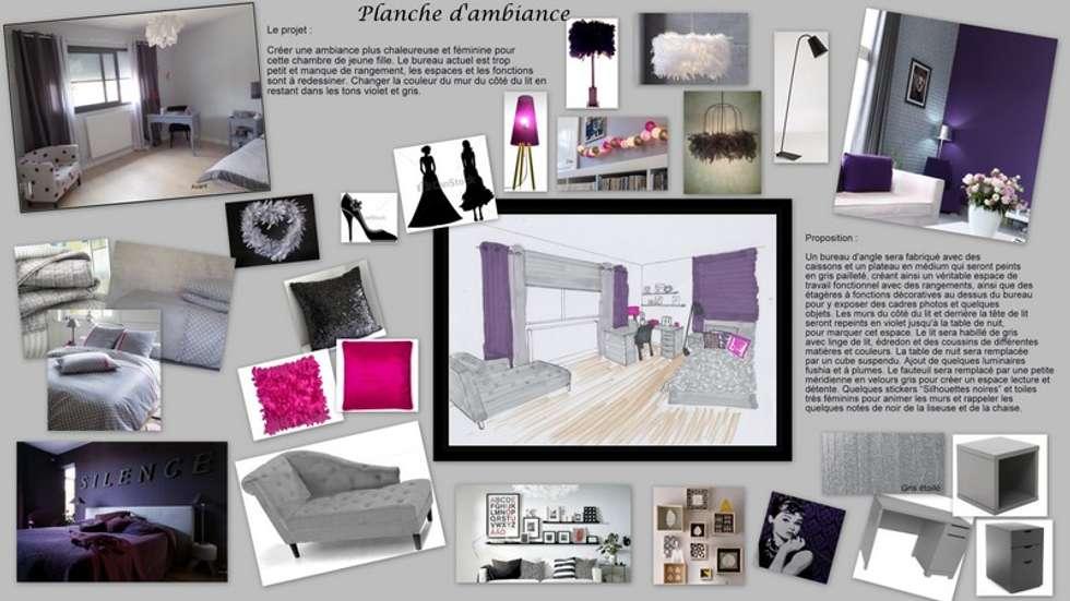 Planche d'ambiance: Chambre d'enfant de style de style Moderne par Scènes d'Intérieur