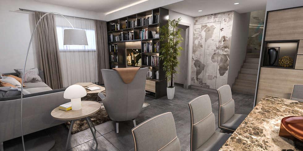 soggiorno: Sala da pranzo in stile in stile Moderno di studiosagitair