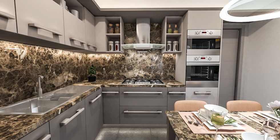cucina ad angolo: Cucina attrezzata in stile  di studiosagitair