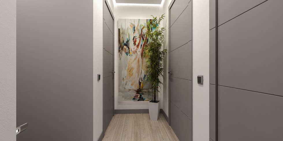 disimpegno notte: Ingresso & Corridoio in stile  di studiosagitair
