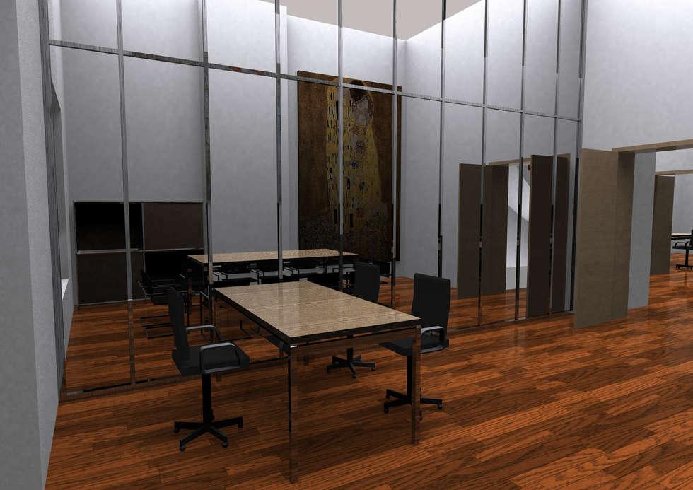 Sede di rappresentanza Bruxelles: Sala multimediale in stile  di  Paolo Baldassarre Architetto