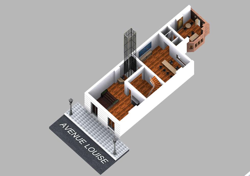 Sede di rappresentanza Bruxelles: Studio in stile in stile Moderno di  Paolo Baldassarre Architetto
