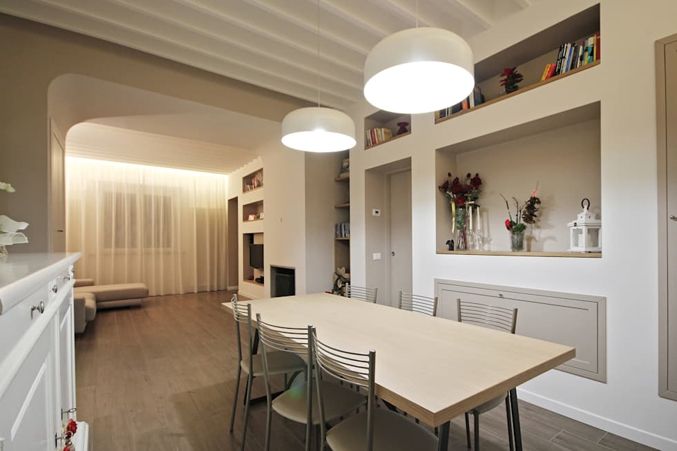 Arredamento country moderno: sala da pranzo in stile in stile ...