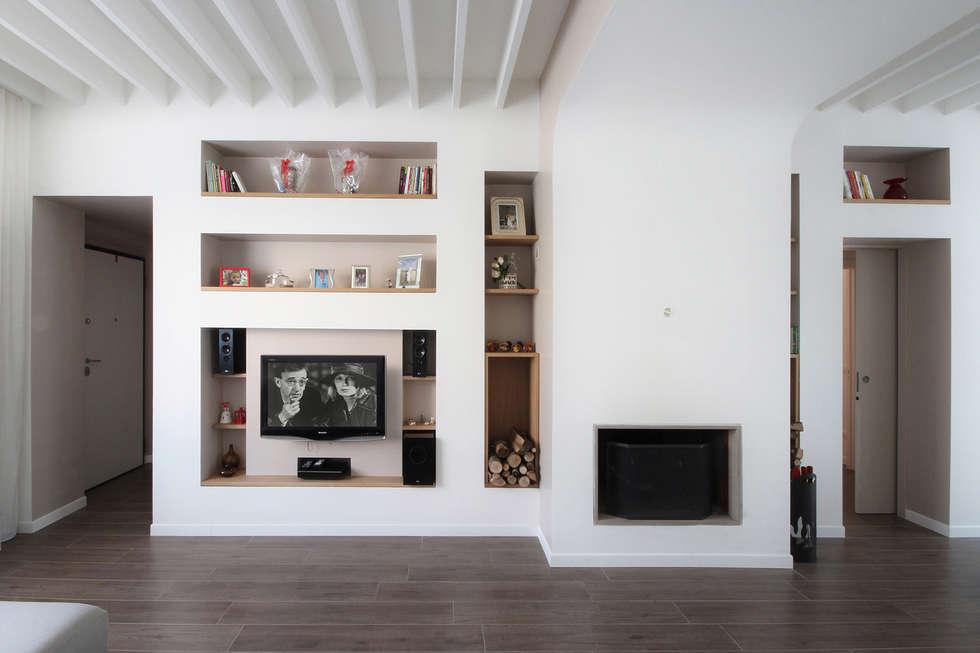 Idee arredamento casa interior design homify for Parete attrezzata in muratura