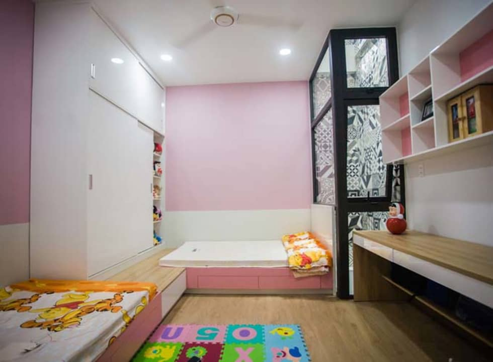 Phòng ngủ mang nét cá tính riêng biệt:  Phòng ngủ by Công ty TNHH Xây Dựng TM – DV Song Phát