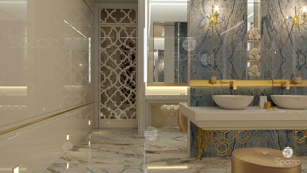 modern Bathroom by Spazio Interior Decoration LLC