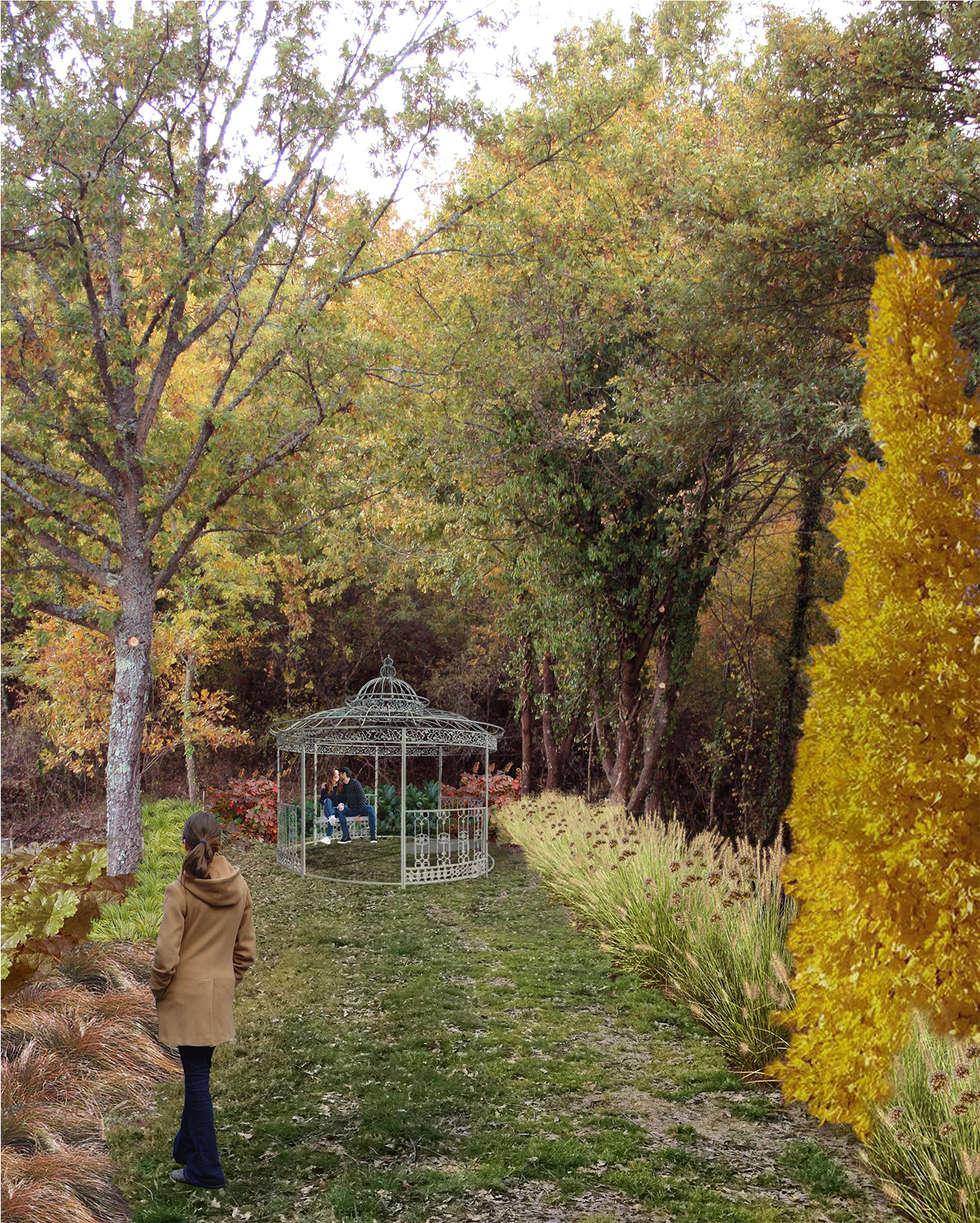 INNOCENTI EVASIONI: Giardino in stile In stile Country di A3PAESAGGIO