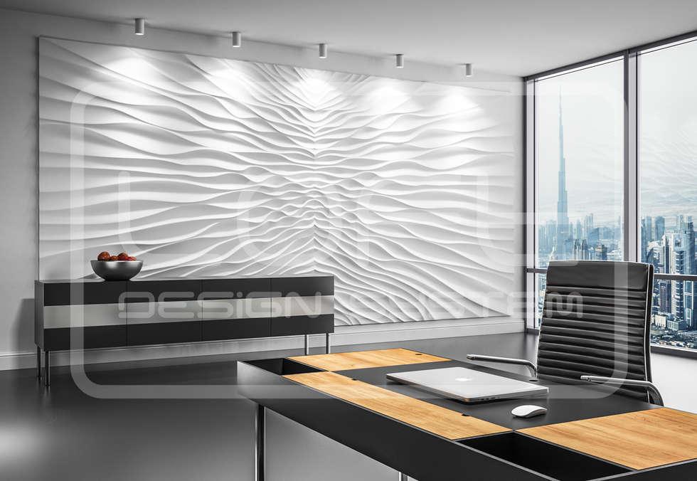 Wandverkleidung Aus Gips Modell ILLUSION: Moderne Arbeitszimmer Von Loft  Design System Deutschland